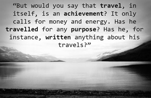 Travel Inspiration: Travel with Purpose; write about it