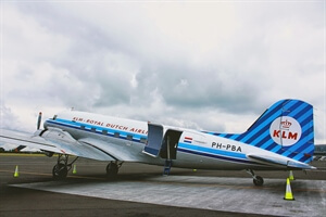 In photos: Flying from Amsterdam to Newcastle in a Vintage DC3 plane for KLM's 95th Birthday